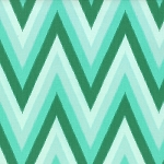 Color Me Happy Ikat Chevron Teal